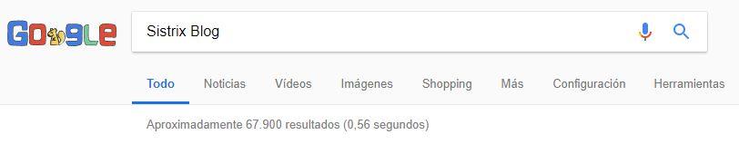 No uso de comillas en la búsqueda de Google