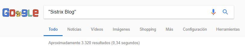 uso de comillas en la búsqueda de Google
